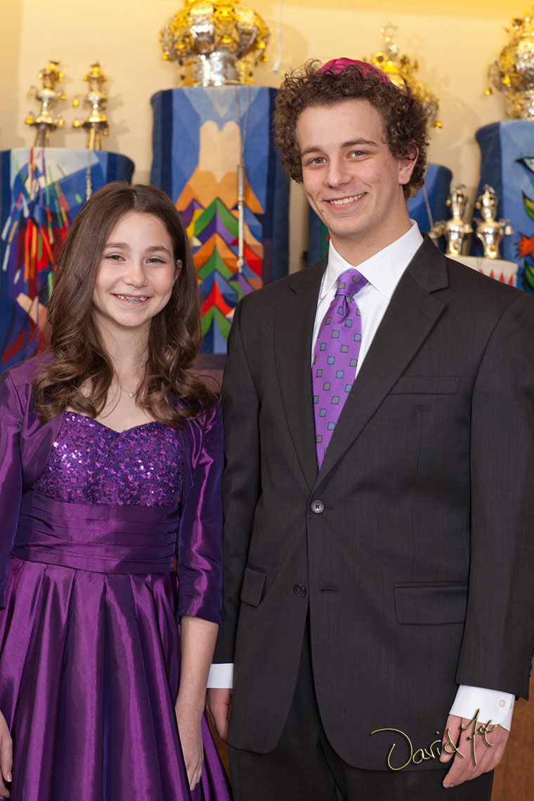 Formal Portrait Of Hannah And Brother At Her Bat Mitzvah