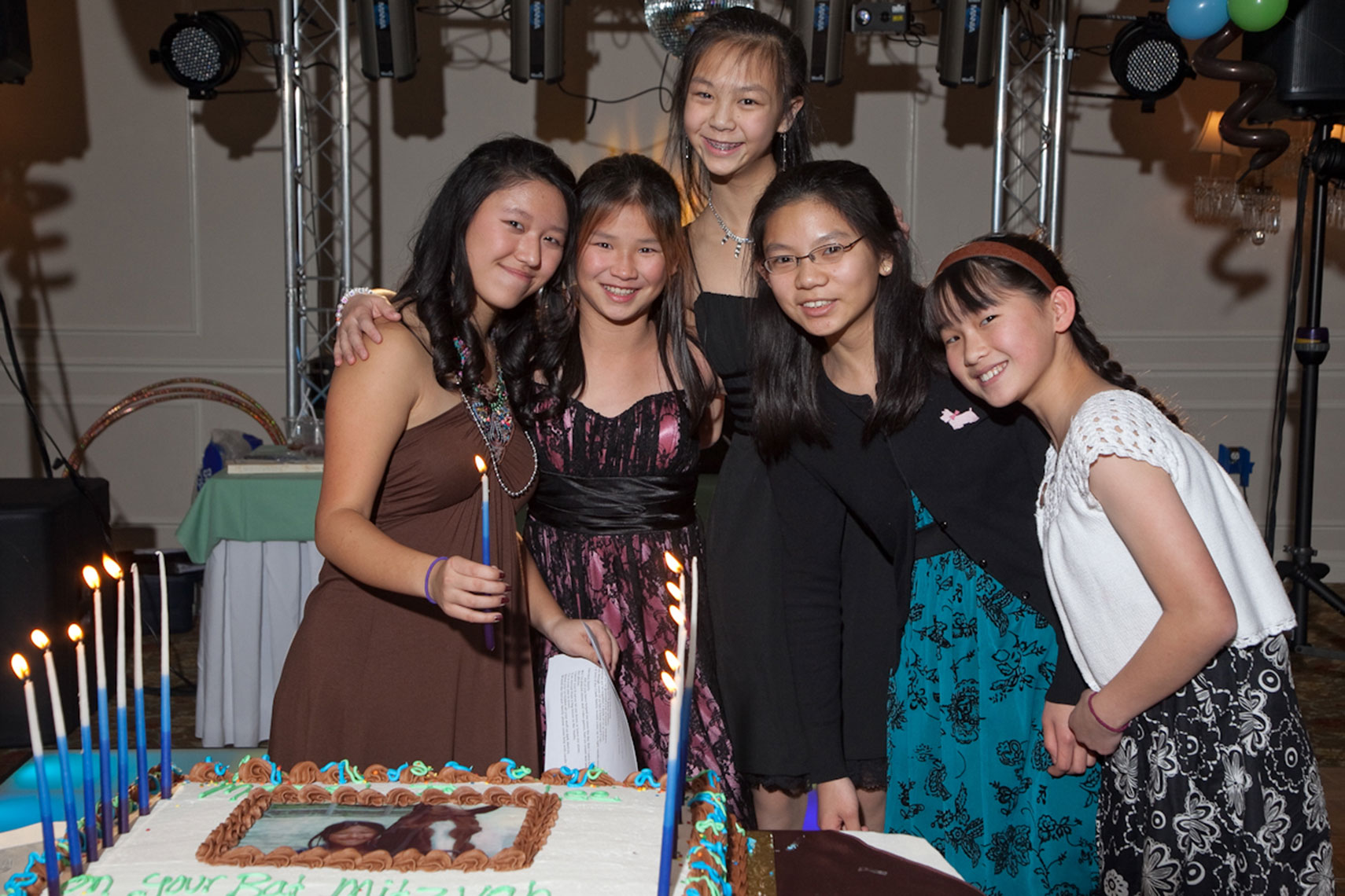 Lee With Friends For Cake Candle Lighting